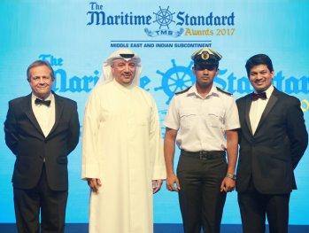 An Achievement Par Excellence - The region's best maritime cadet through a special employment award.