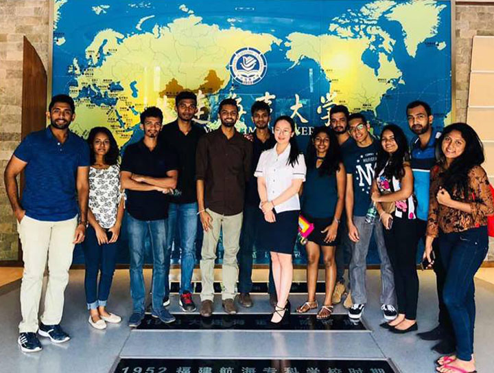 Students visit to Dalian Maritime University