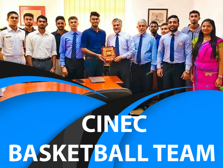 CINEC Basketball team who emerged winners at the annual CINEC vs APIIT Basketball encounter