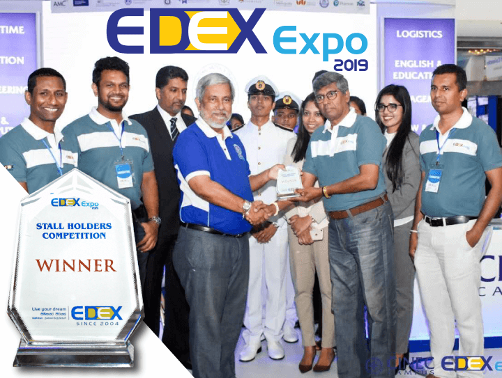 CINEC WON THE BEST STALL AWARD AT EDEX EXPO 2019 AT BMICH