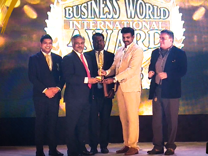 Capt. Ajith Peiris Honored with Lifetime Achievement at the  Business World International Awards