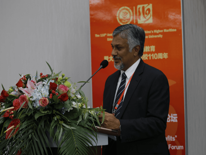 Chairman CINEC Campus Capt. Ajith Peiris Delivers the Keynote Address at the 110th Anniversary Celebrations of Dalian Maritime University, China