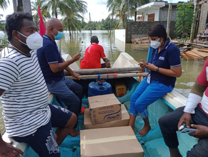 CINEC Administration staff engaged in flood relief 6th and 7th June 2021