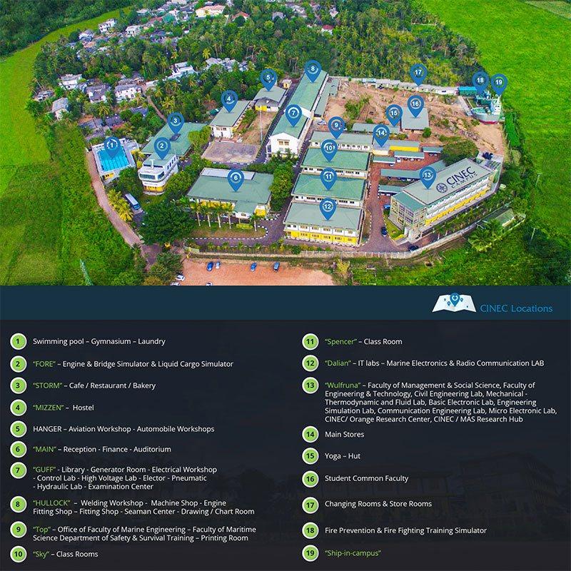 CINEC Campus | Campus Map