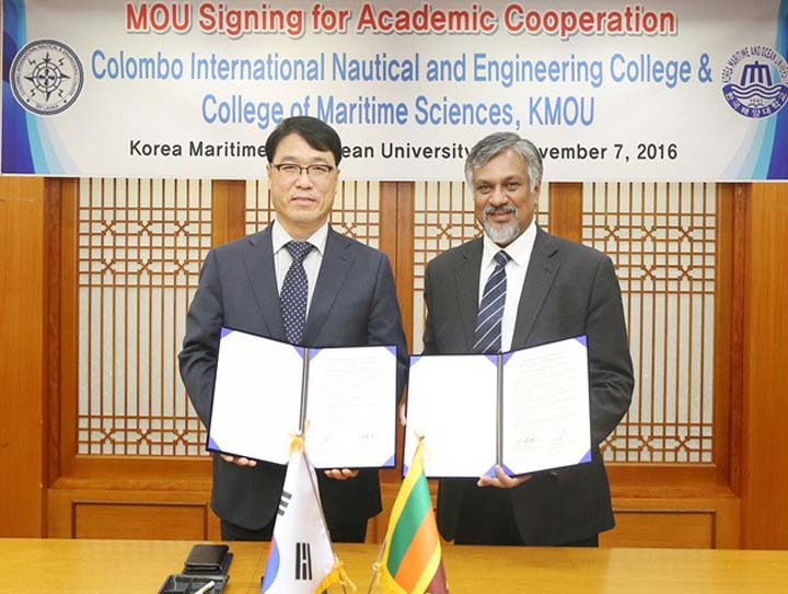 CINEC Signs MOU With Korea Maritime and Ocean University