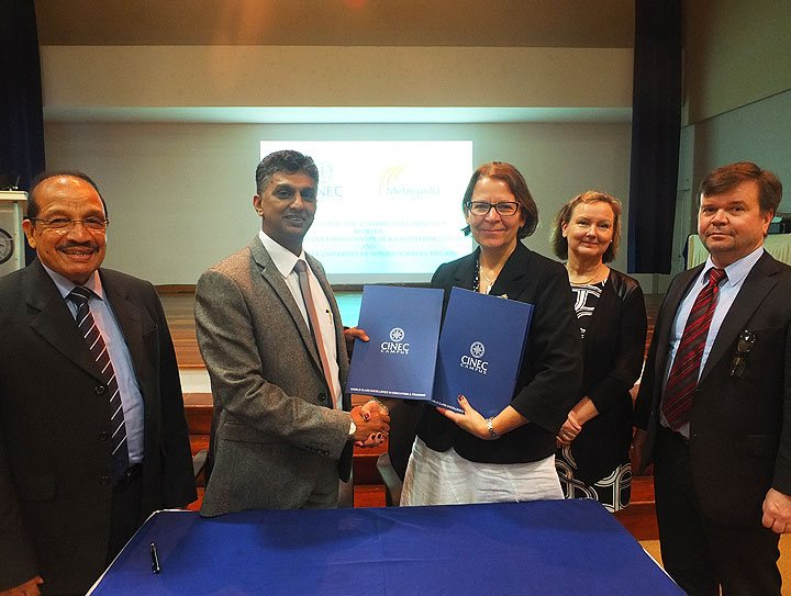 MOU Signing Between Metropolia University of Applied Sciences And CINEC