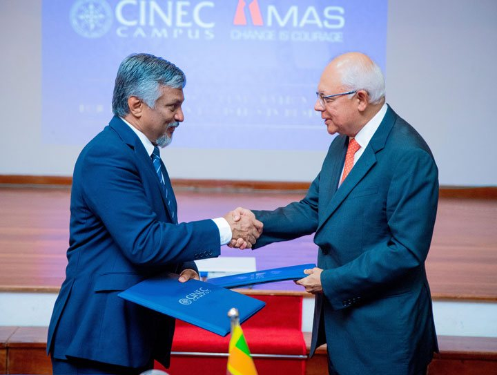 MOU signing between MAS and CINEC
