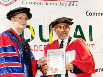 CINEC Senior Consultant Bestowed with a Honorary Doctorate